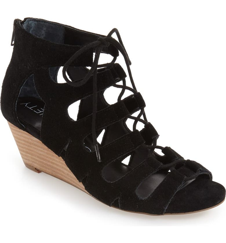 SOLE SOCIETY 'Freyaa' Wedge Sandal, Main, color, 001