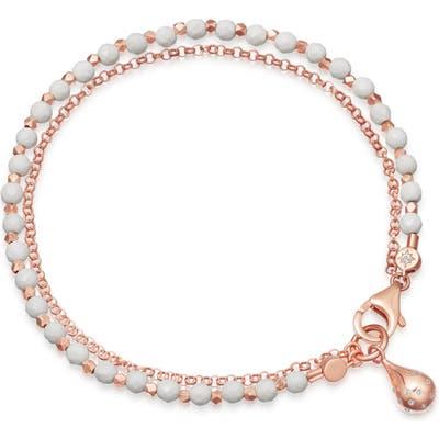 Astley Clarke Dew Drop White Agate Biography Bracelet