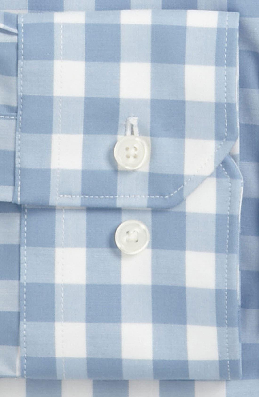 ,                             Slim Fit Non Iron Gingham Dress Shirt,                             Alternate thumbnail 12, color,                             400