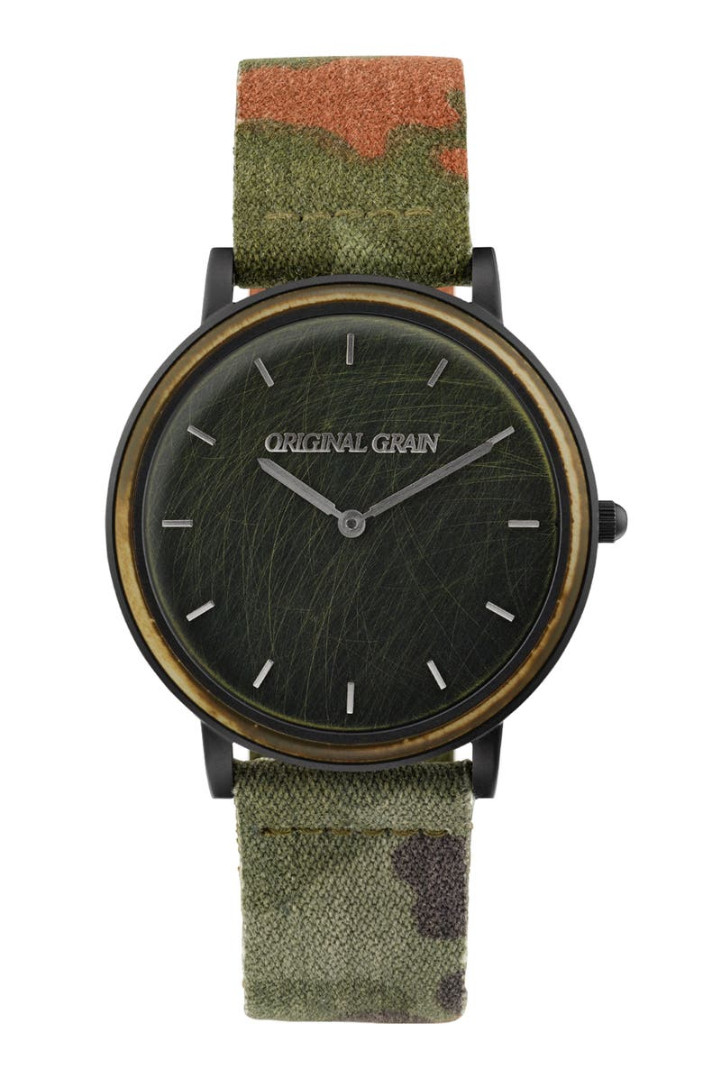 ORIGINAL GRAIN Military Minimalist Watch Set, 40mm, Main, color, 001