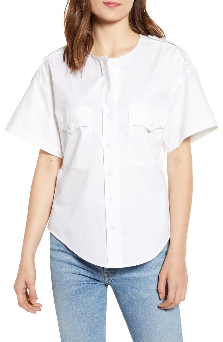 REBECCA MINKOFF Fallon Cotton Top, Main, color, 111
