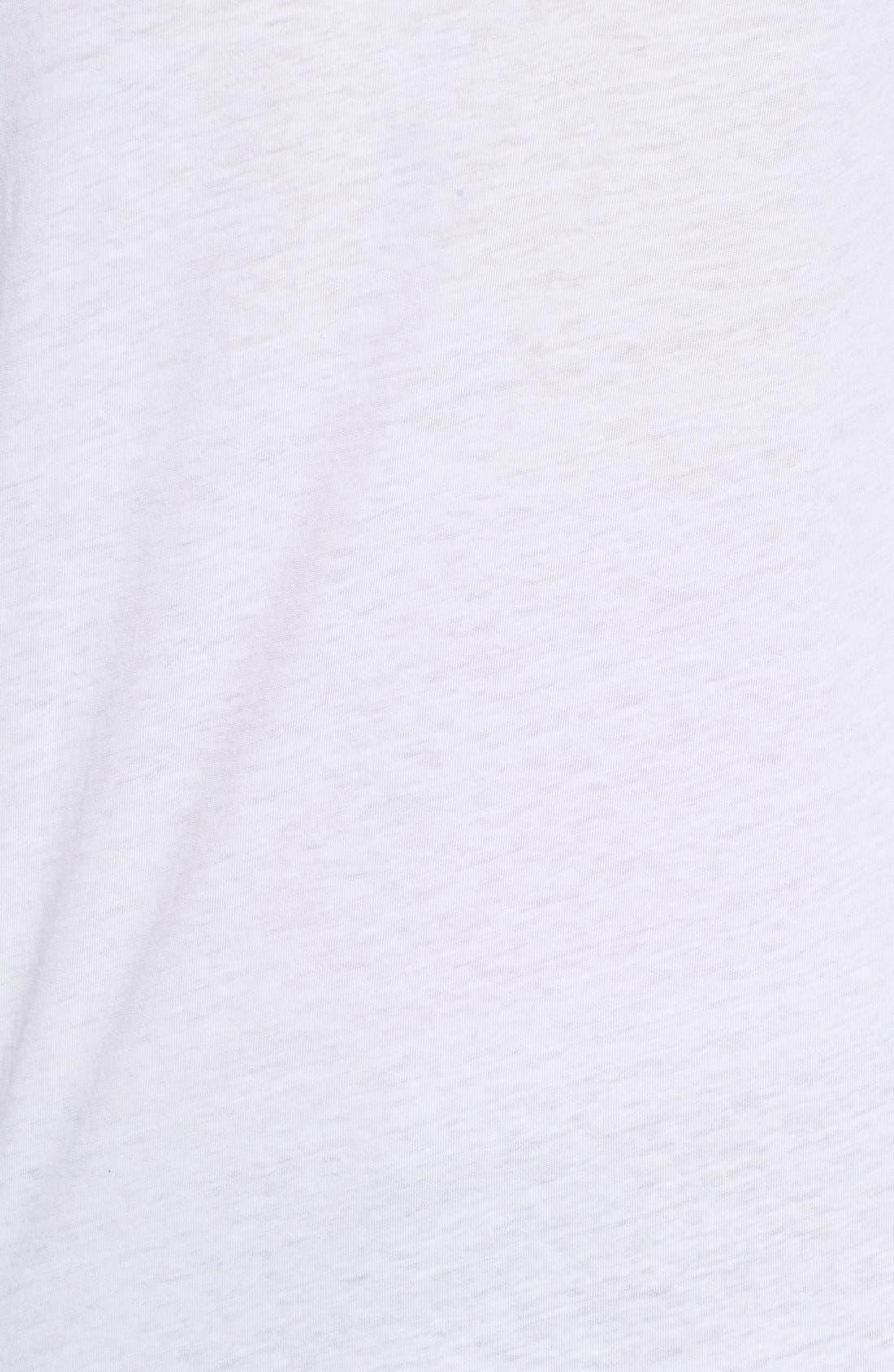,                             Triblend Scallop Long Sleeve Crewneck T-Shirt,                             Alternate thumbnail 18, color,                             100