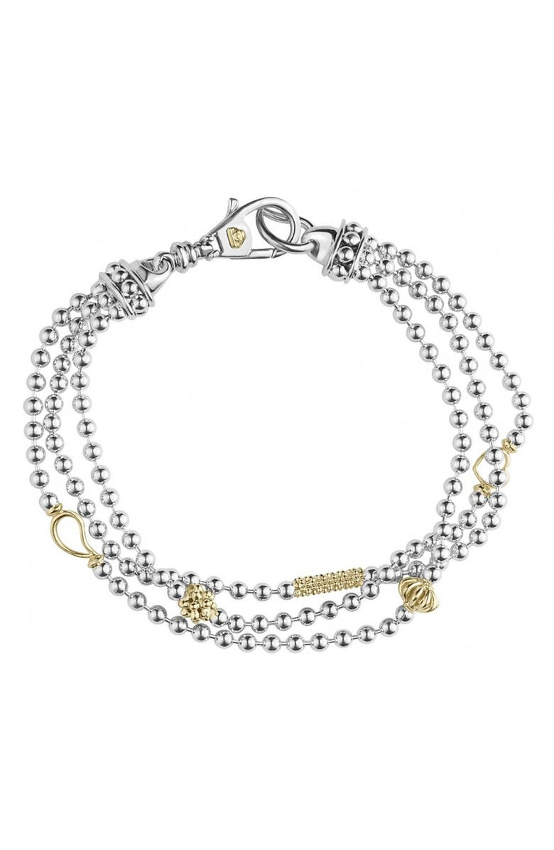 LAGOS 'Caviar Icon' Multistrand Bracelet, Main, color, SILVER/ GOLD