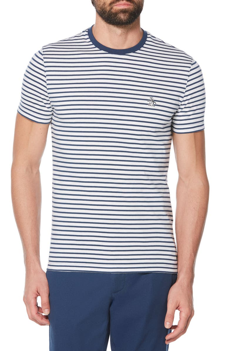 ORIGINAL PENGUIN Auto Stripe T-Shirt, Main, color, 485