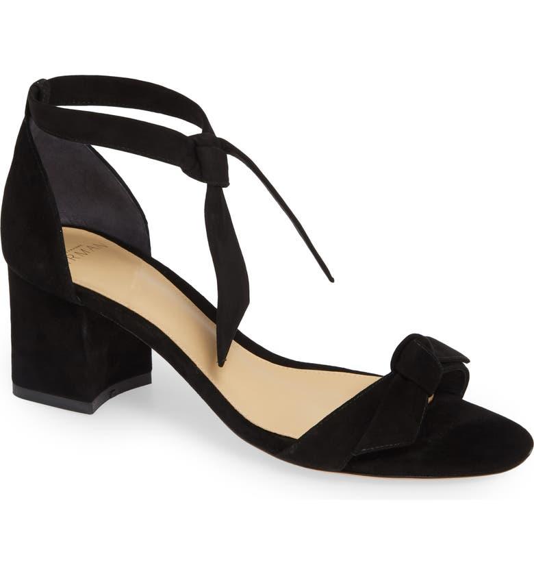 ALEXANDRE BIRMAN Clarita Block Sandal, Main, color, BLACK SUEDE