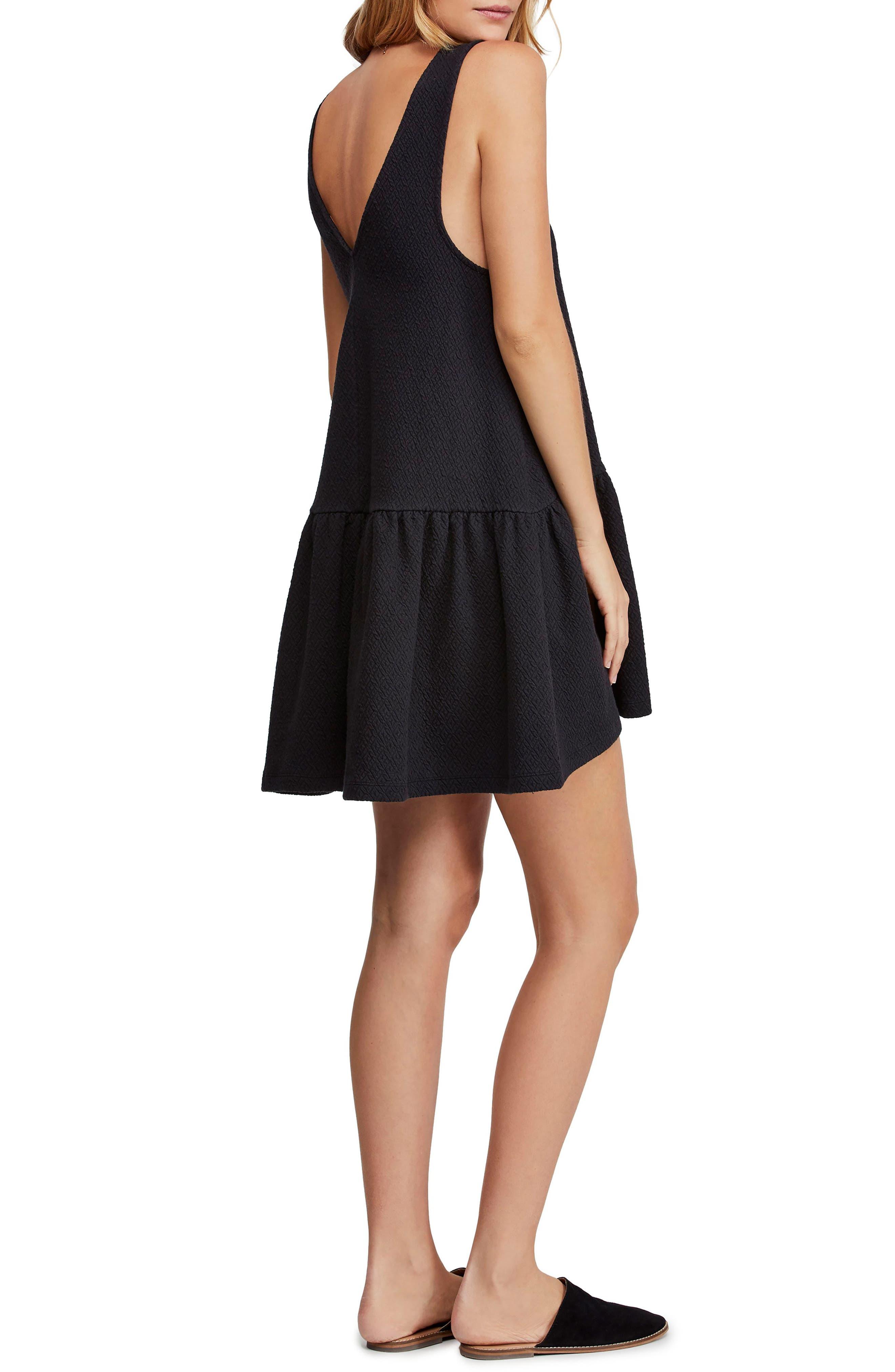 ,                             Easy Street Sleeveless Minidress,                             Alternate thumbnail 2, color,                             BLACK