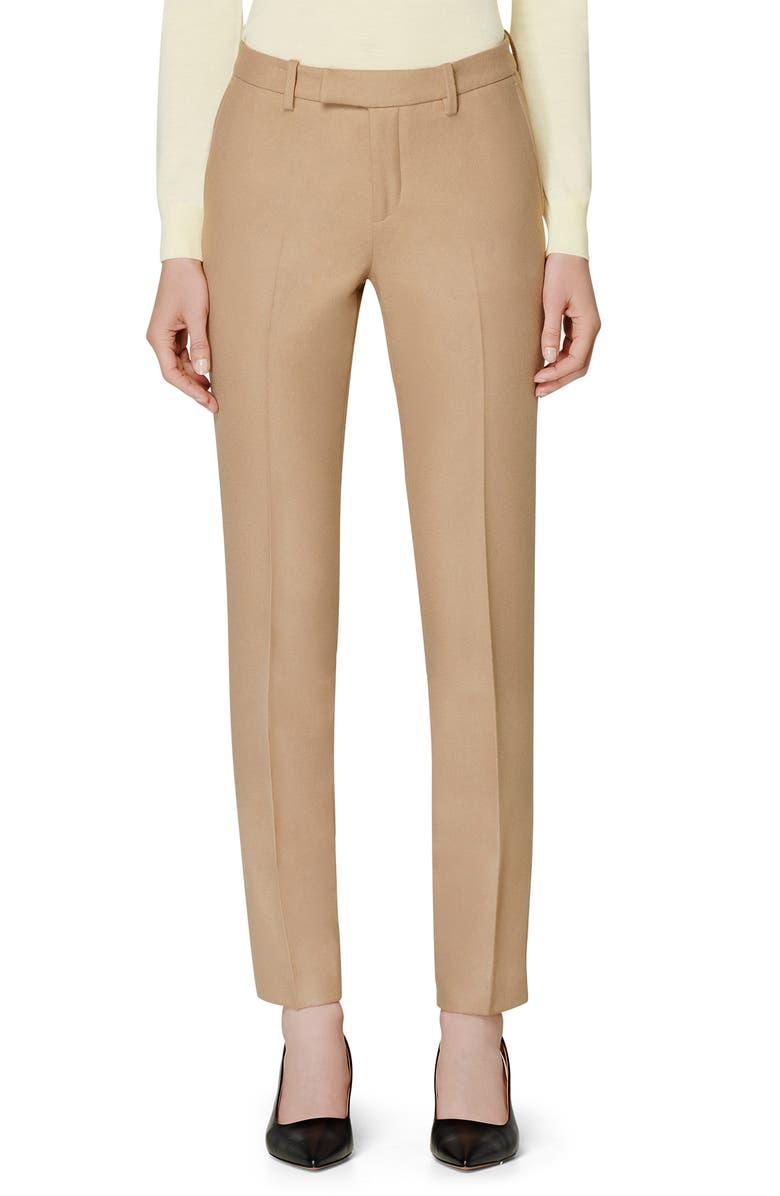 SUISTUDIO Robin Cuff High Waist Pants, Main, color, CAMEL