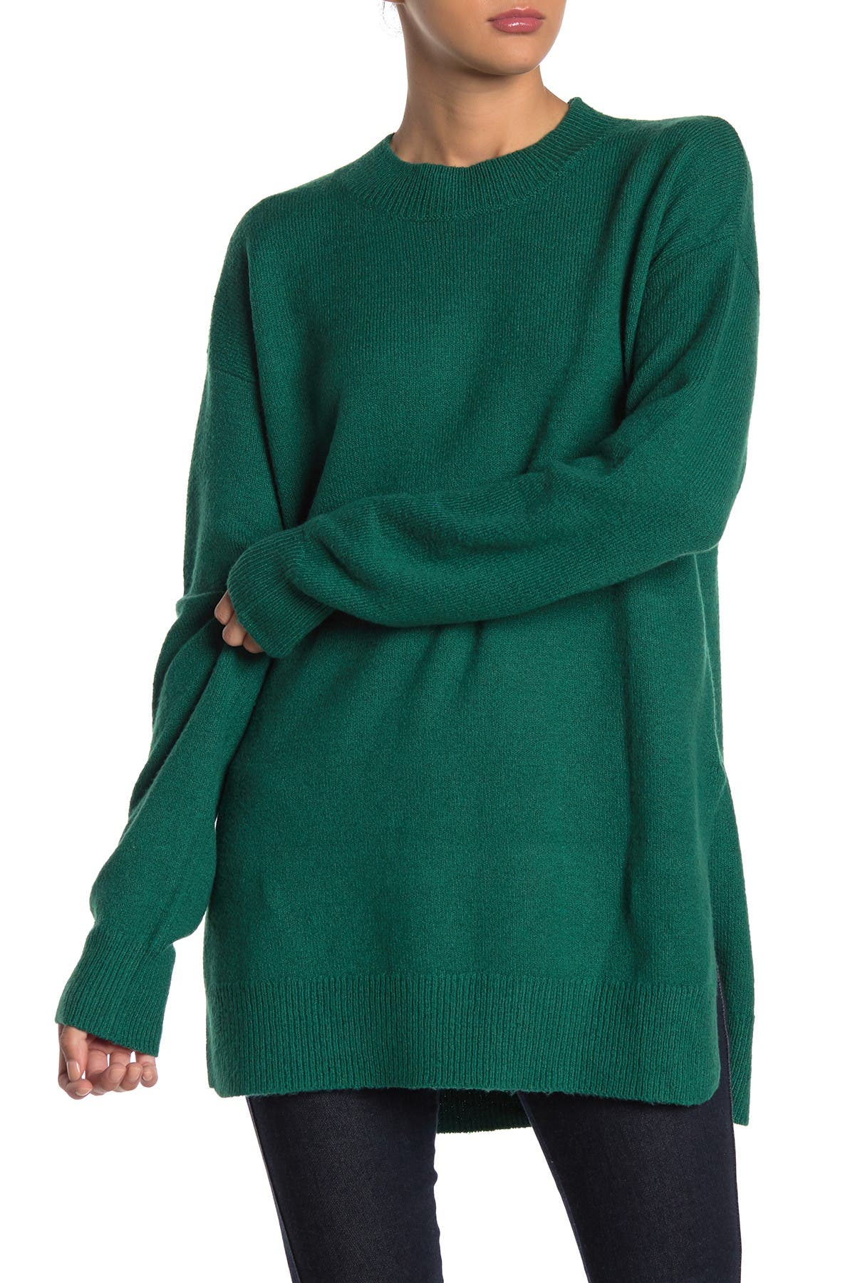 Image of Abound Mock Neck Tunic Sweater