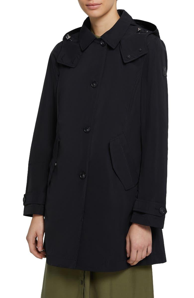 WOOLRICH Water Repellent Raincoat, Main, color, 001
