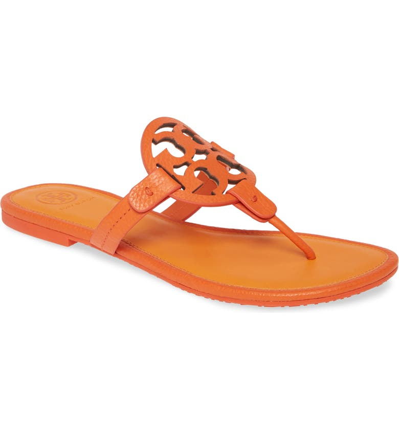 TORY BURCH Miller Flip Flop, Main, color, POPPY RED / POMANDER