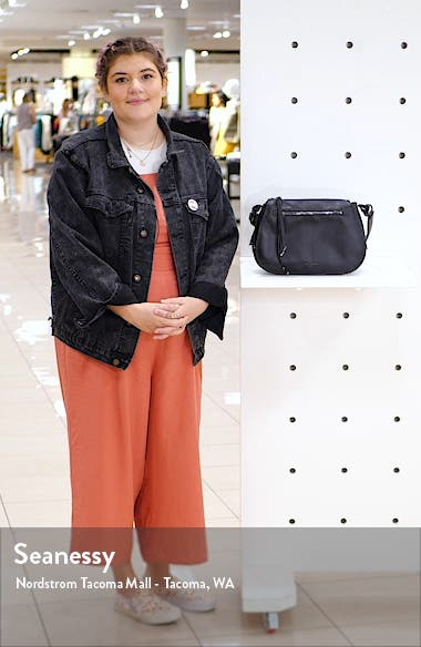 Heatherr Curved Leather Crossbody Bag, sales video thumbnail