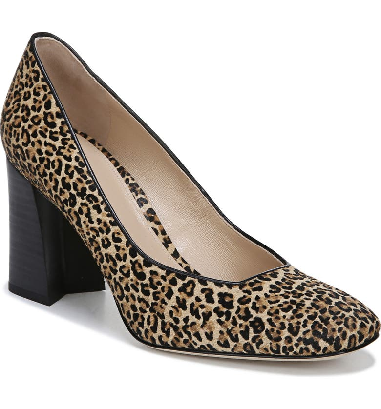 VIA SPIGA Beatrice Leather Pump, Main, color, ANIMAL PRINT CALF HAIR