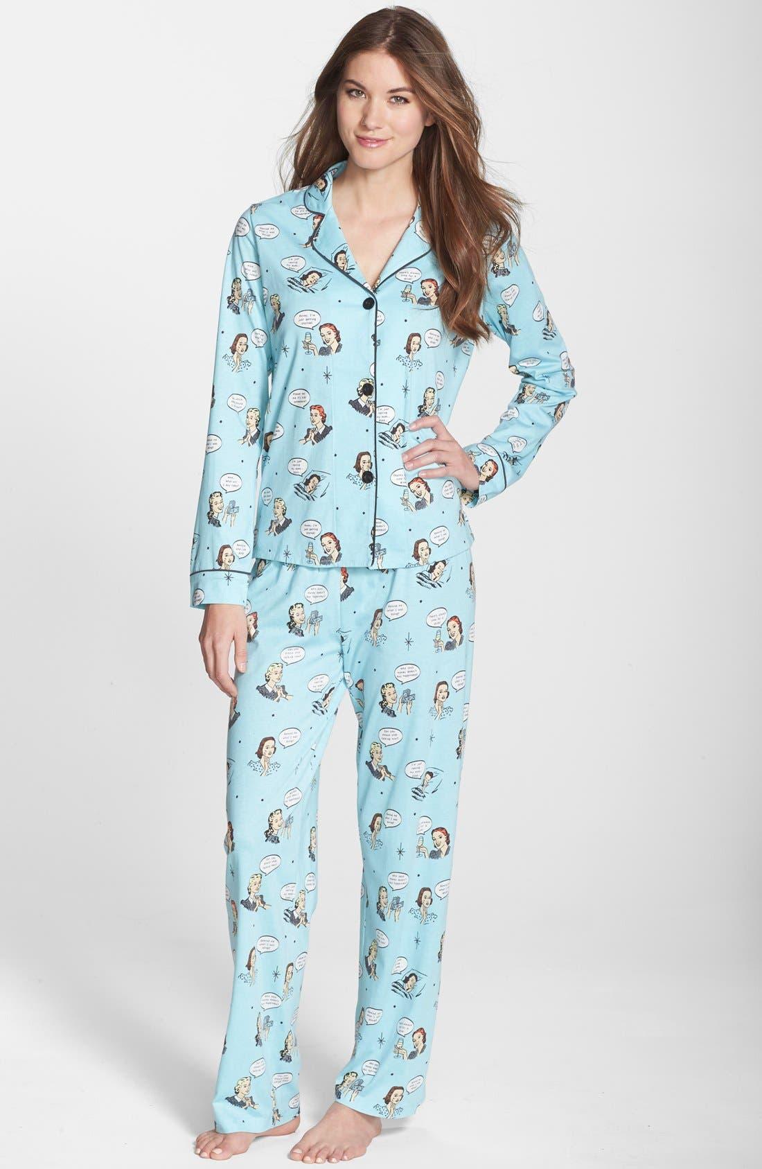 ,                             Print Jersey Pajamas,                             Main thumbnail 25, color,                             440
