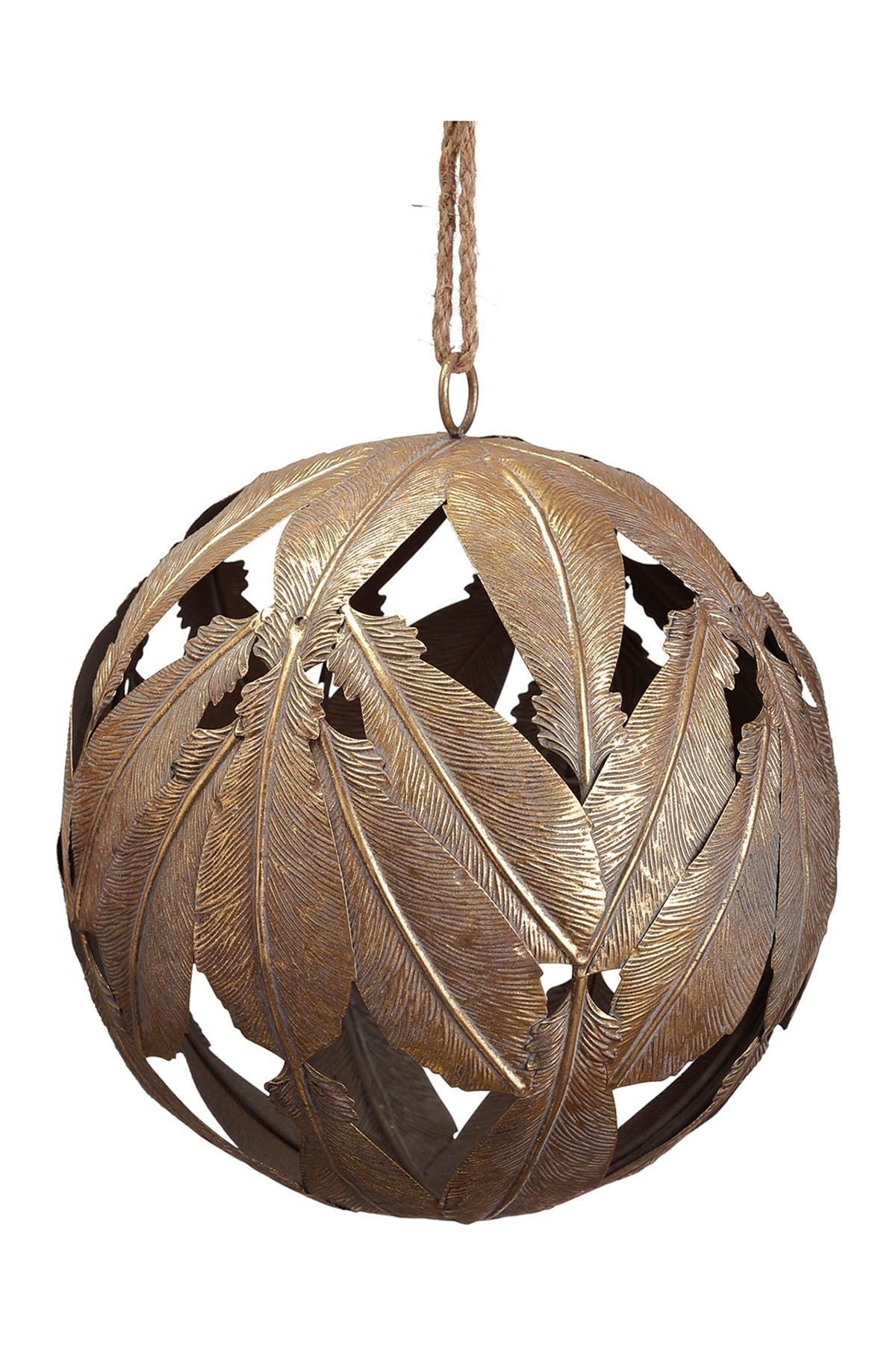 "Image of ALLSTATE 10"" Metal Leaf Ball Ornament"