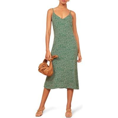 Reformation Alexandra Midi Dress, Green