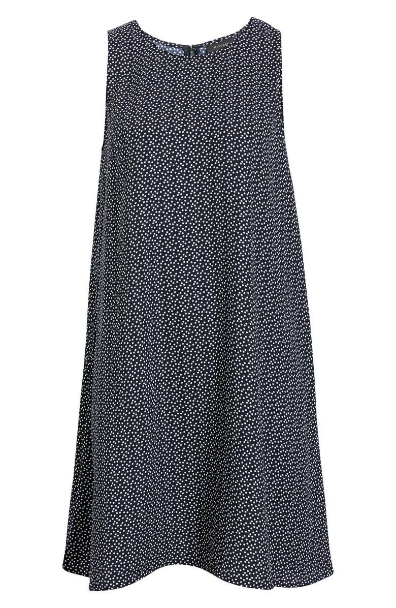 HALOGEN<SUP>®</SUP> A-Line Dress, Main, color, NAVY- IVORY DOTS