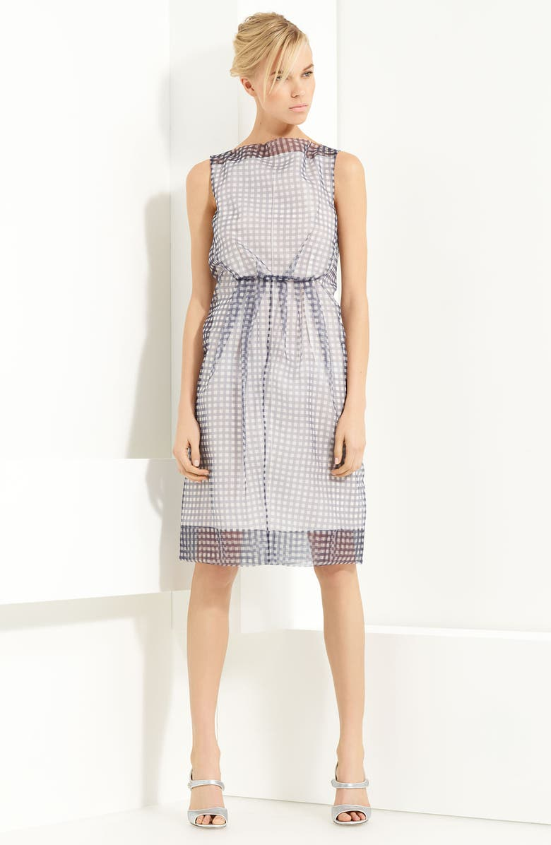 MARC JACOBS Gingham Print Organza Dress, Main, color, 401