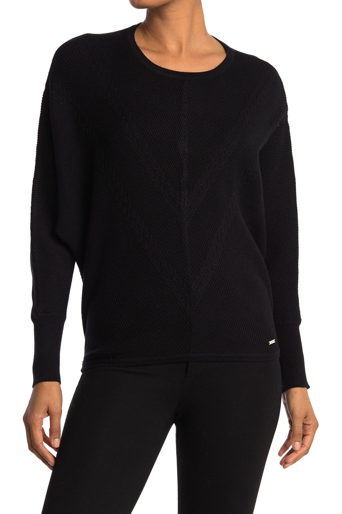 Image of T Tahari Long Dolman Sleeve Crewneck