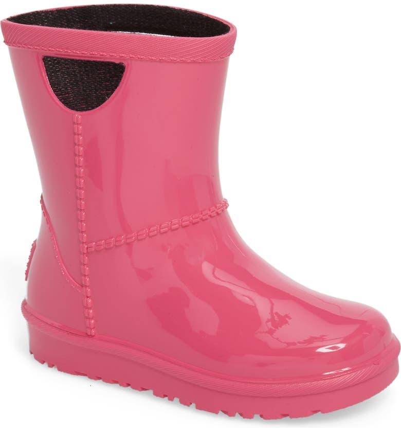 UGG<SUP>®</SUP> Rahjee Waterproof Rain Boot, Main, color, DIVA PINK