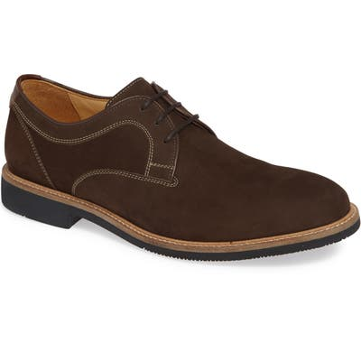Johnston & Murphy Barlow Plain Toe Derby- Brown