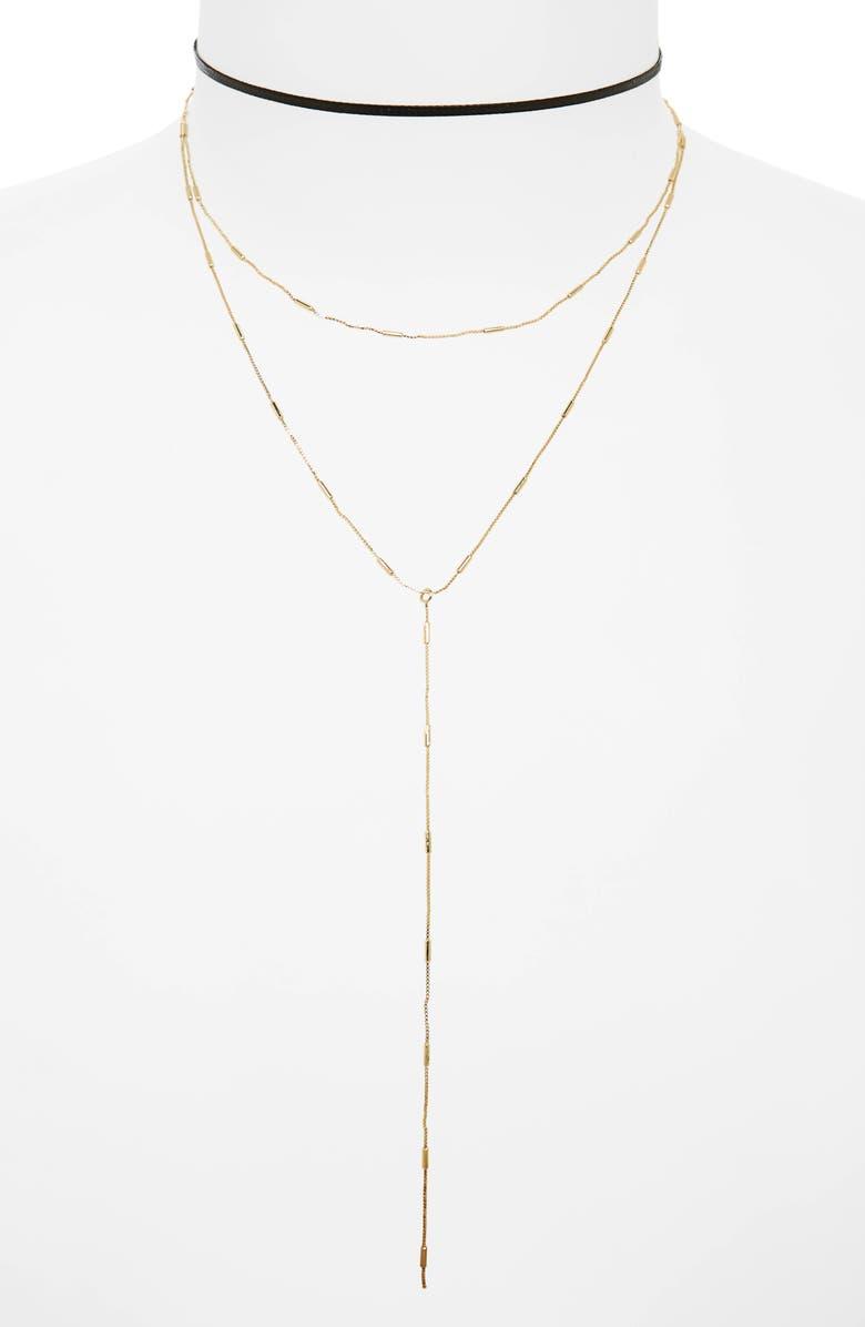 BP. 2-Pack Choker & Y-Necklace, Main, color, 001