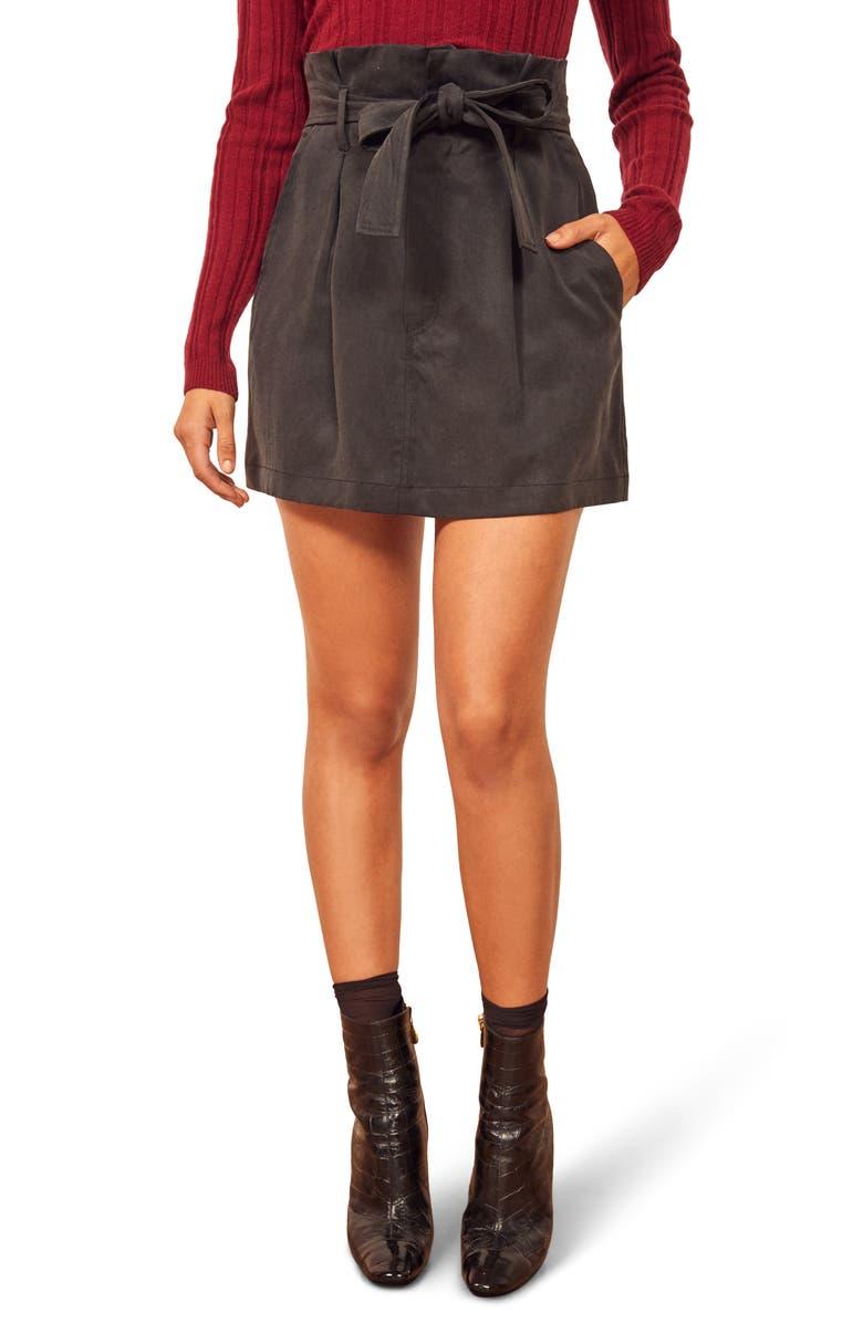 REFORMATION Jennings Miniskirt, Main, color, 001