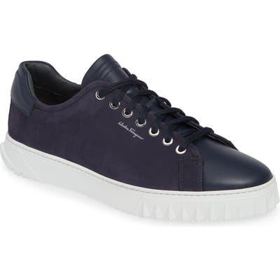 Salvatore Ferragamo Cube Sneaker- Blue