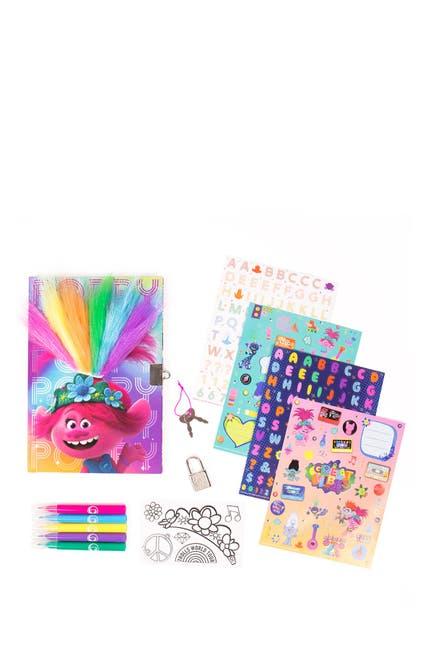 Image of Trolls Fuzzy Diary Set