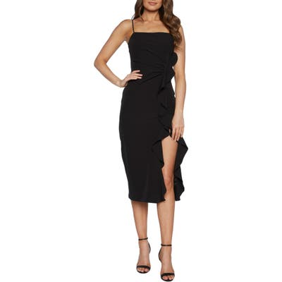 Bardot Rona Sleeveless Midi Dress, Black