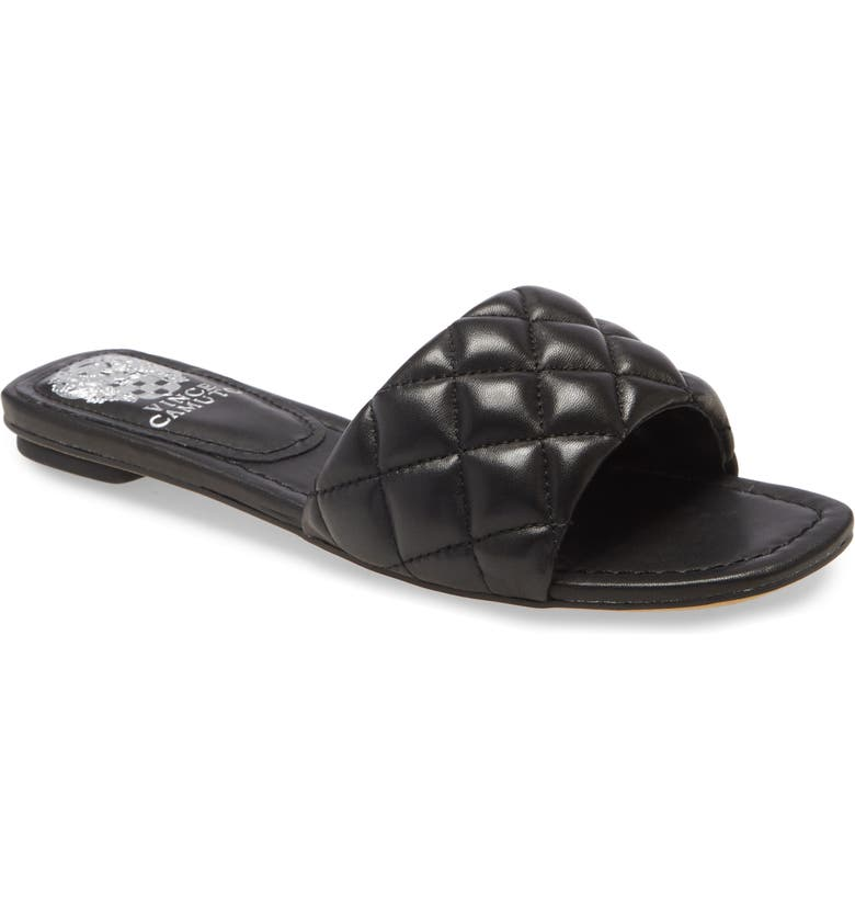 VINCE CAMUTO Pelisa Slide Sandal, Main, color, BLACK