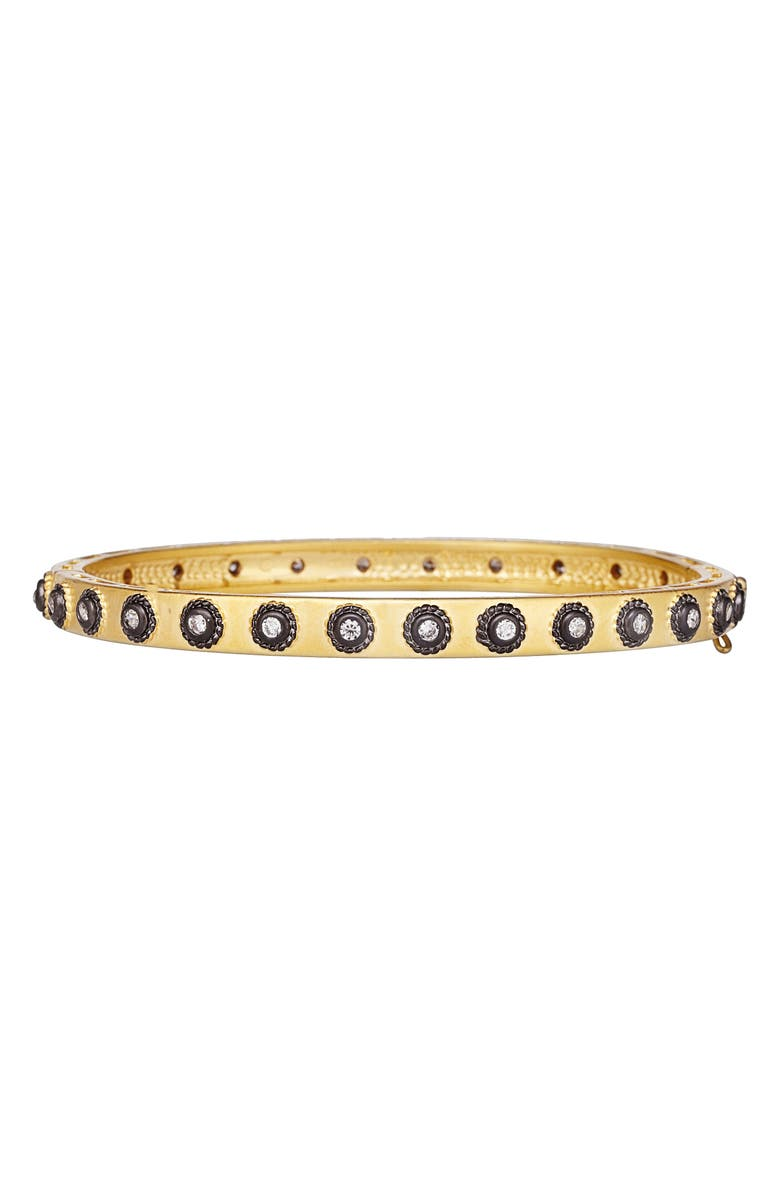 FREIDA ROTHMAN Eternity Hinge Bangle, Main, color, GOLD