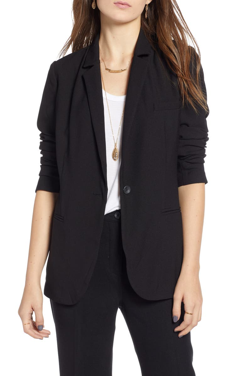 TREASURE & BOND Relaxed Blazer, Main, color, BLACK