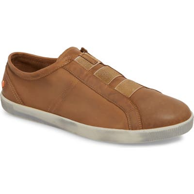 Softinos By Fly London Tip Laceless Sneaker, Brown