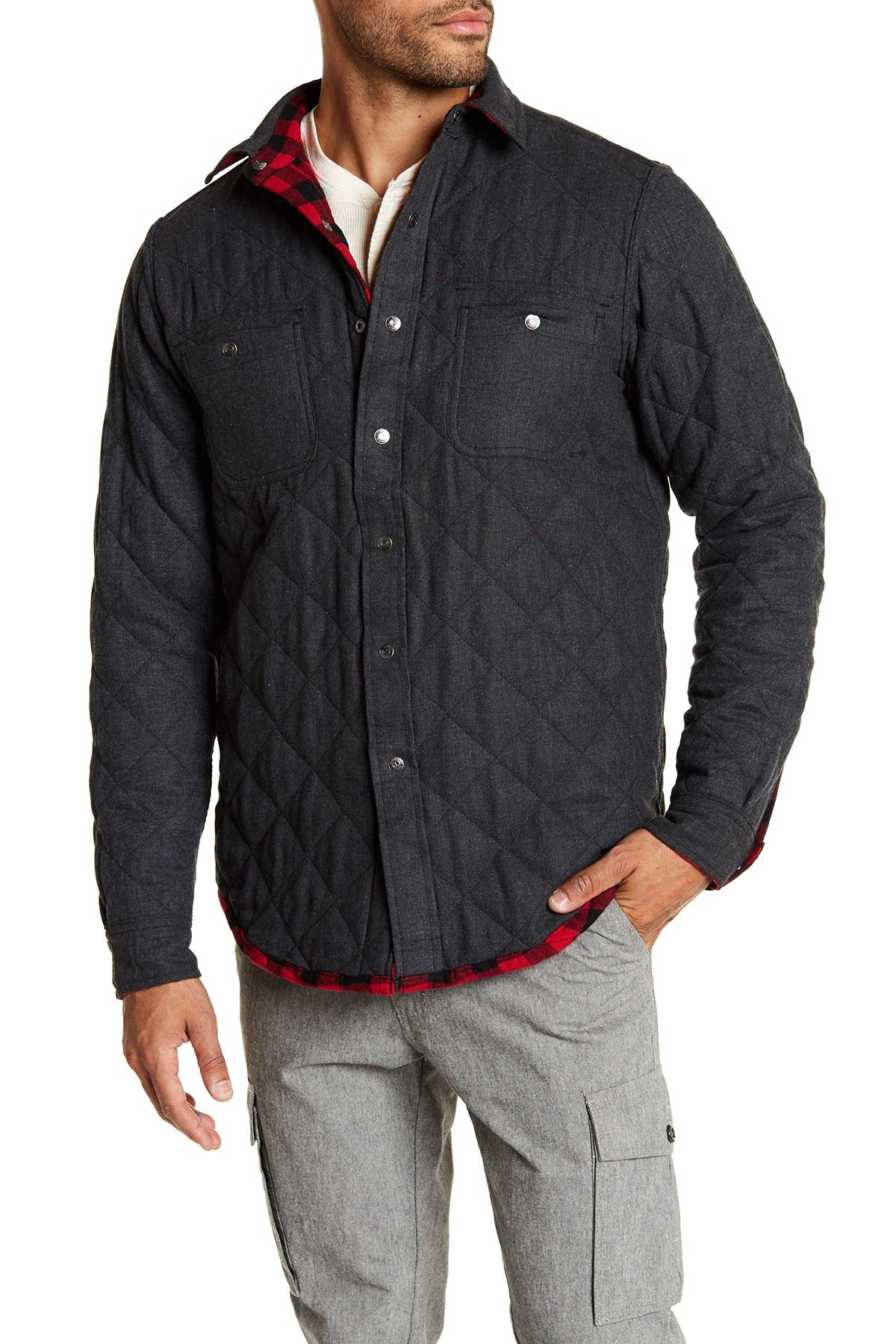 Image of Tailor Vintage Quilted Reversible Flannel Shirt Jacket