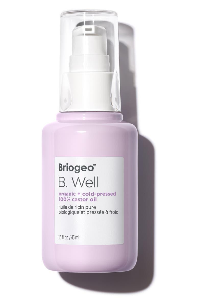 BRIOGEO B. Well Organic + Cold-Pressed 100% Castor Oil, Main, color, NO COLOR