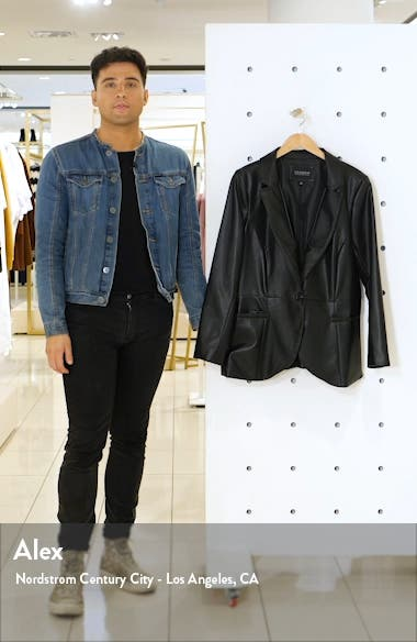 Faux Leather Blazer, sales video thumbnail