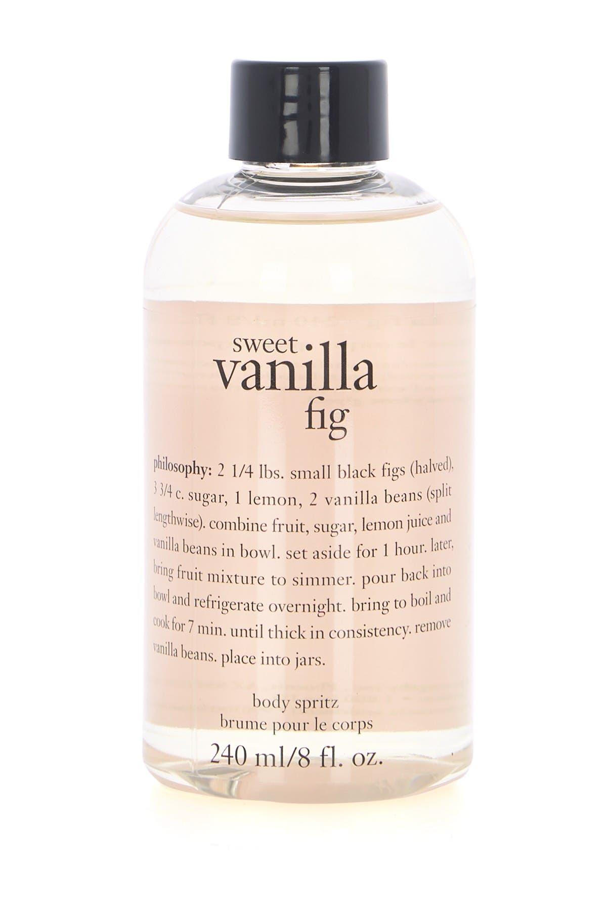 Image of philosophy sweet vanilla fig body spritz