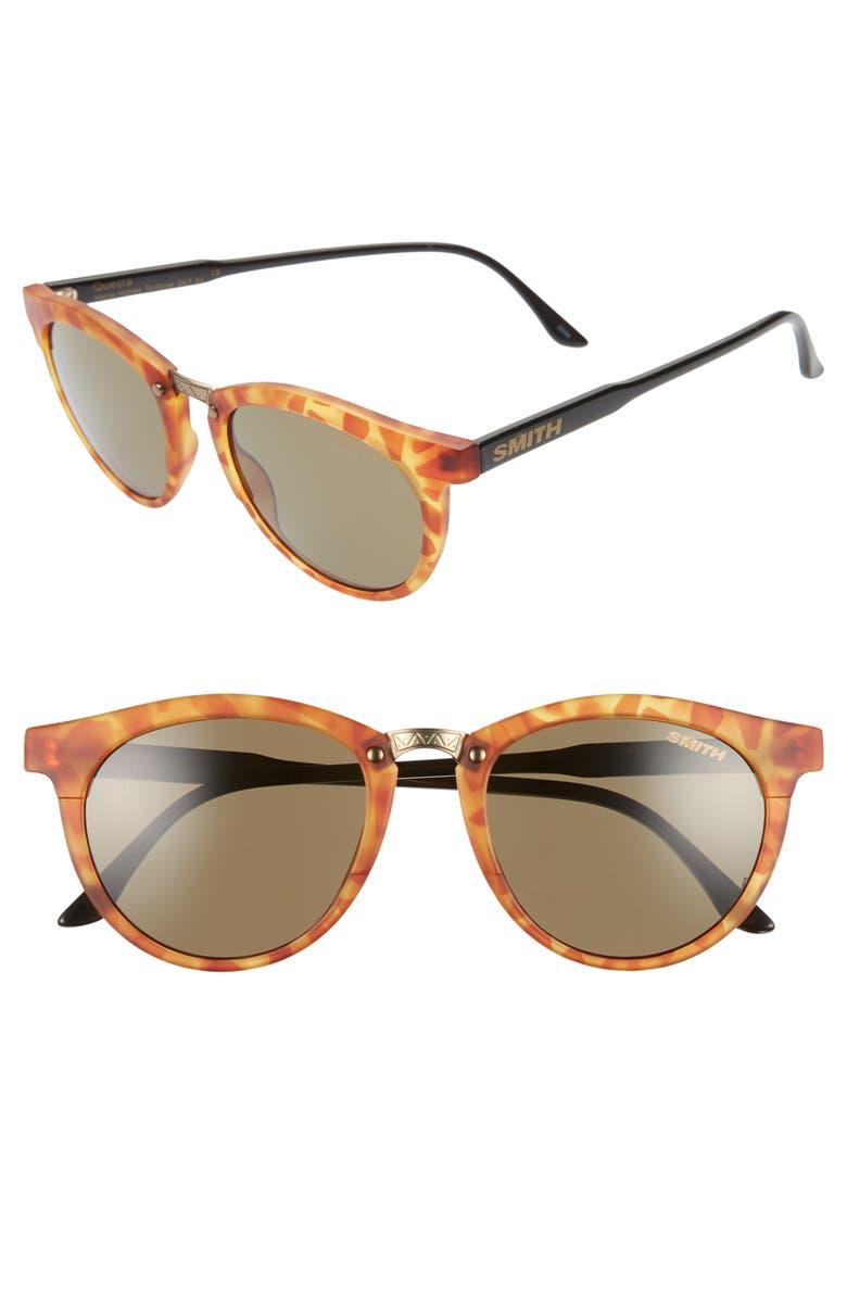 SMITH Questa 49mm ChromaPop Polarized Sunglasses, Main, color, HONEY TORTOISE/ GREY GREEN