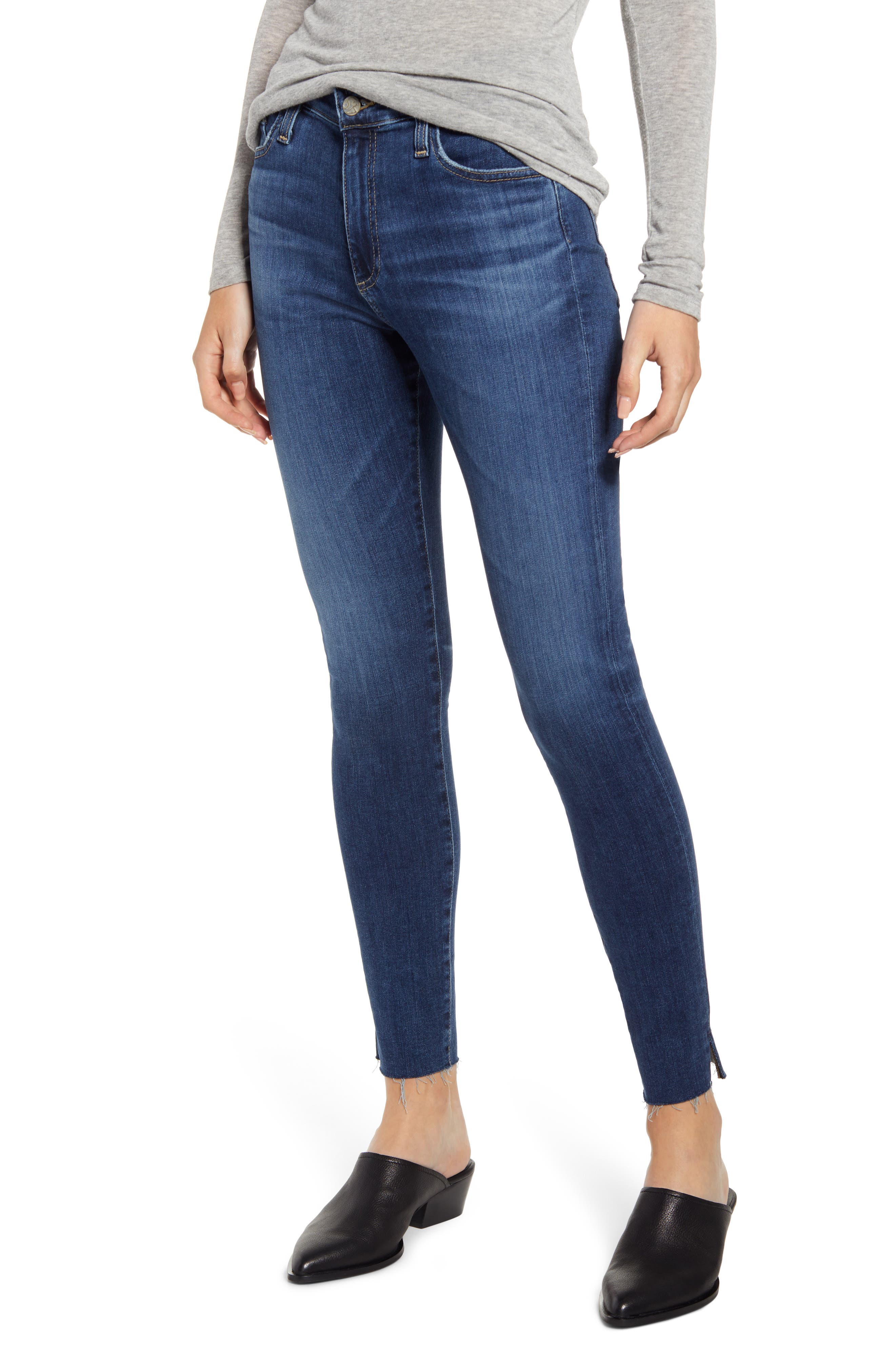 AG The Farrah High Waist Ankle Skinny Jeans (11 Years Blue Bound)