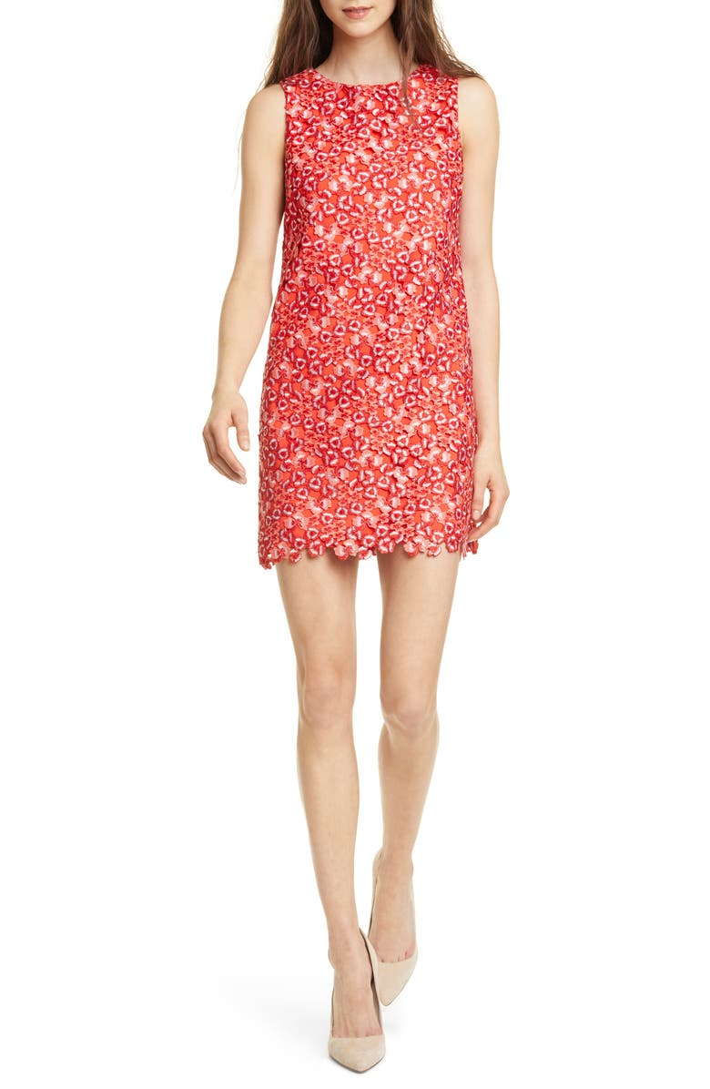 ALICE + OLIVIA Clyde Sleeveless A-Line Minidress, Main, color, 800