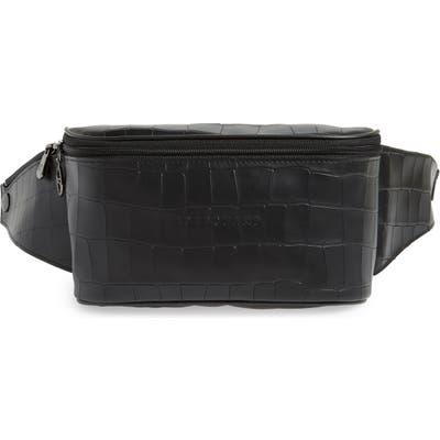 Longchamp Leather Belt Bag - Black
