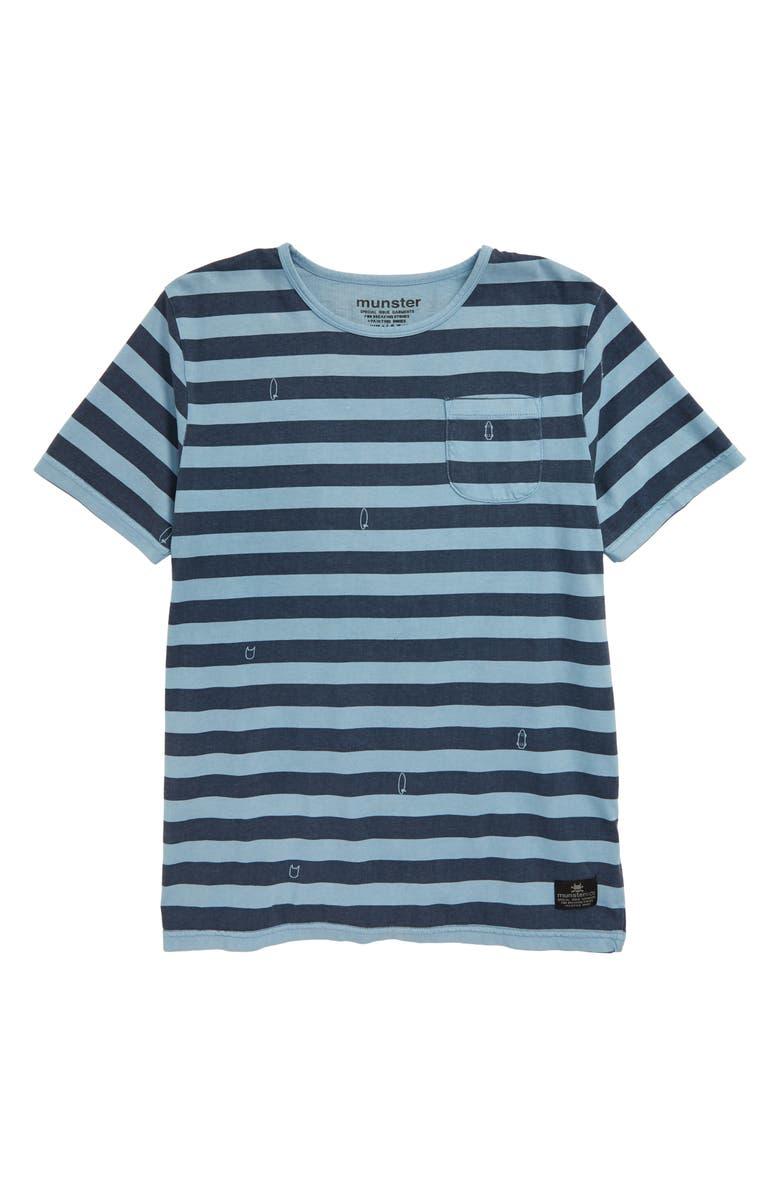MUNSTERKIDS Washed Up Stripe T-Shirt, Main, color, 422