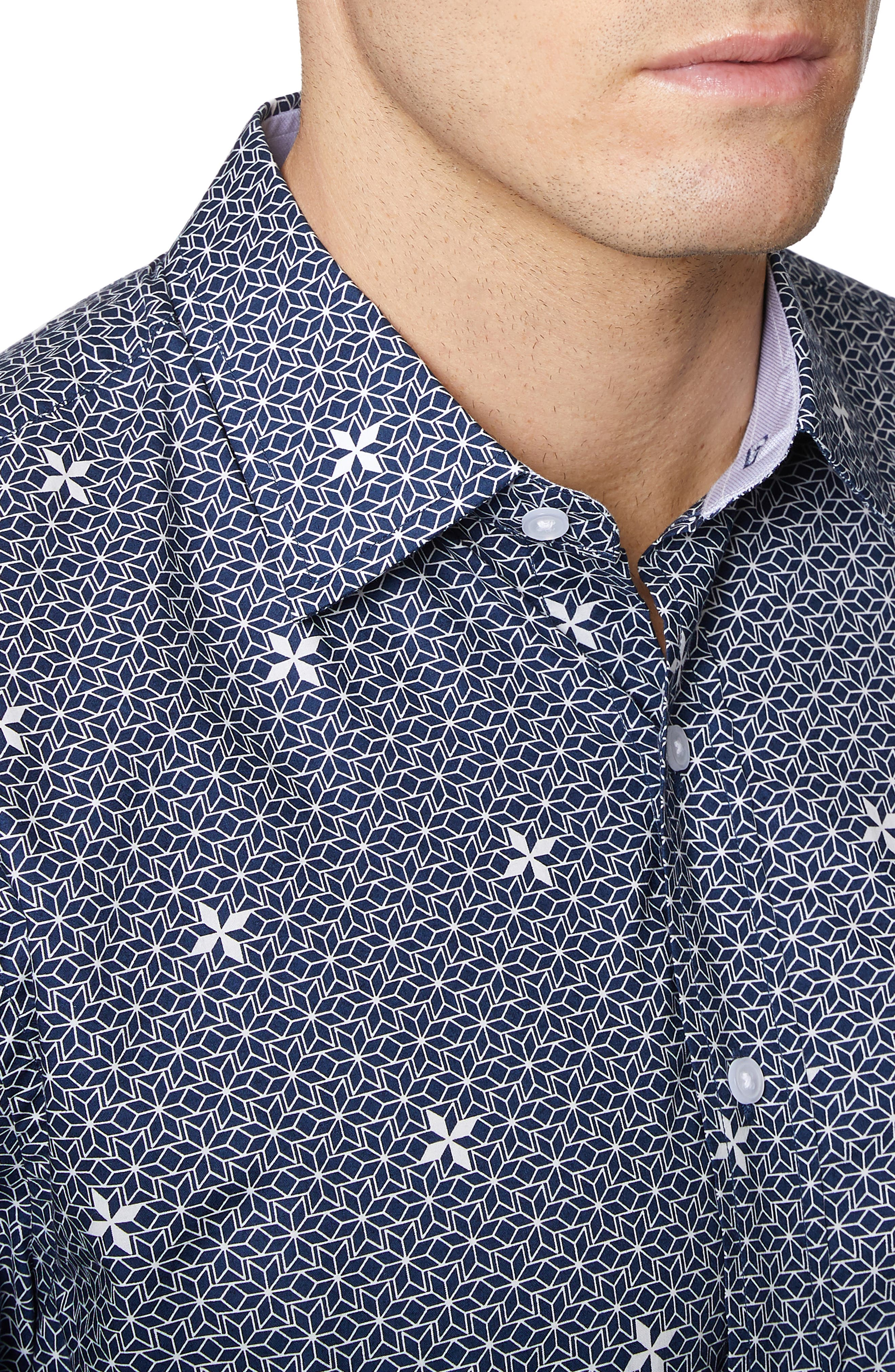 ,                             Print Short Sleeve Sport Shirt,                             Alternate thumbnail 2, color,                             NAVY PRINT