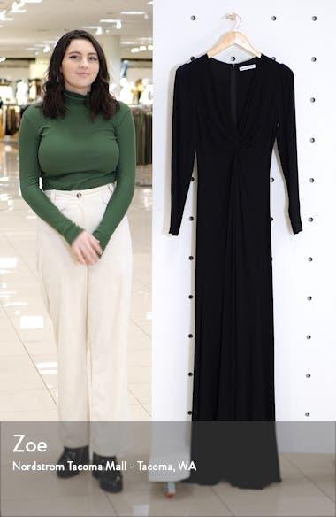 Gatsby Front Slit Long Sleeve Maxi Dress, sales video thumbnail