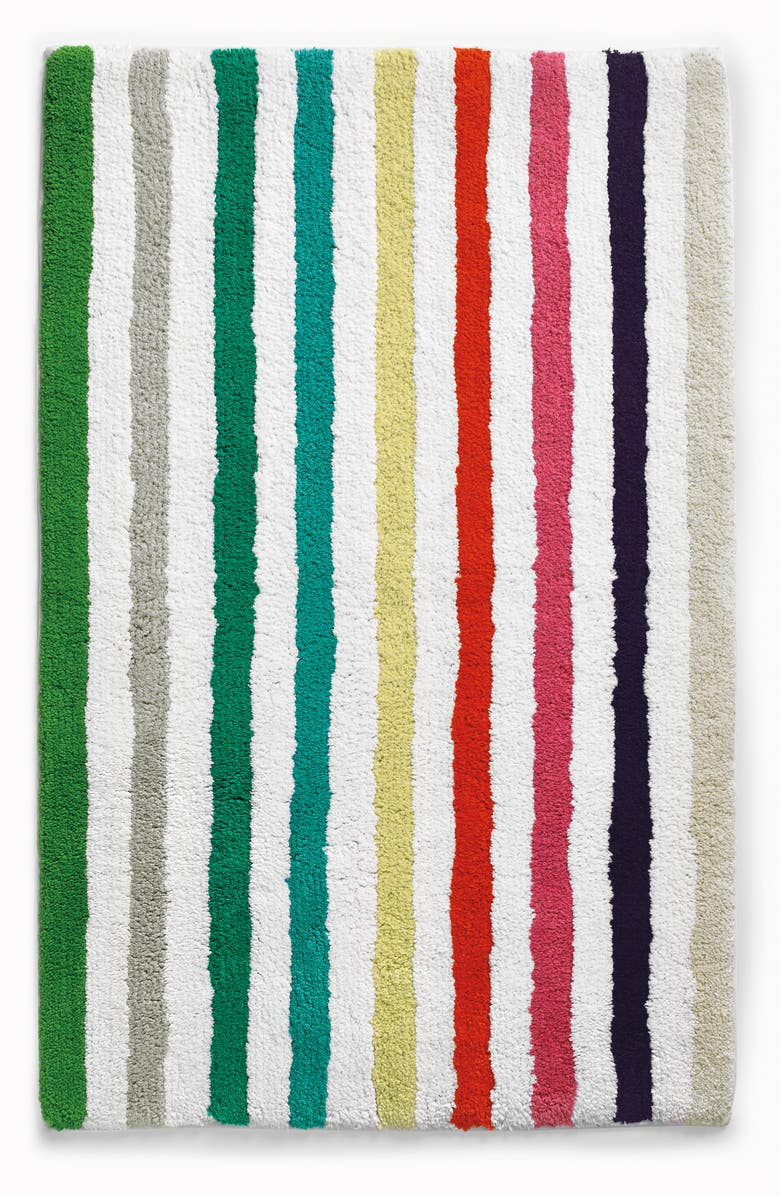 KATE SPADE NEW YORK candy stripe bath rug, Main, color, WHITE MULTI