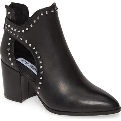 Steve Madden Justice Studded Cutout Bootie- Black