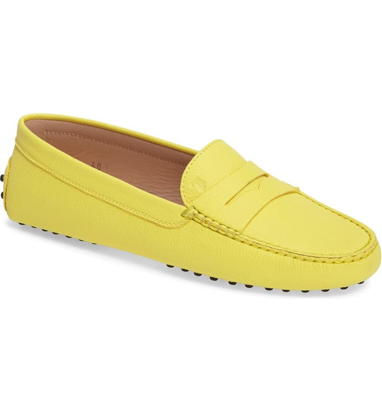 TOD'S 'Gommini' Driving Moccasin, Main, color, YELLOW LEATHER