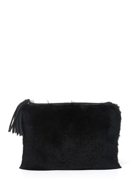 Image of Rebecca Minkoff Jon Tassel Genuine Fur Pouch