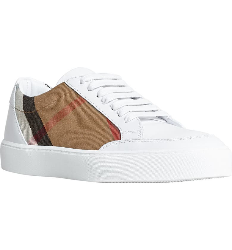 BURBERRY Salmond Sneaker, Main, color, WHITE