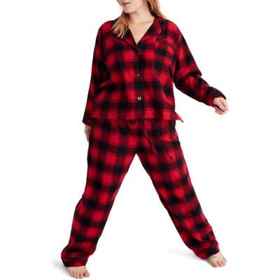 Madewell Buffalo Plaid Flannel Bedtime Pajamas, Grey
